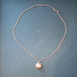 Rose gold seashell locket